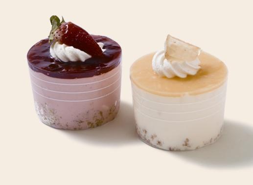 Cheesecake Cups - Lemon or Strawberry - Mezzapica Cakes