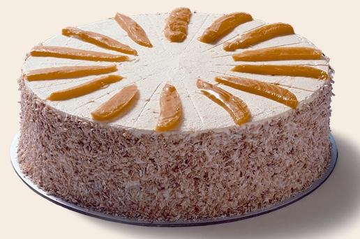 Mango Coconut Cake - Mezzapica Cakes